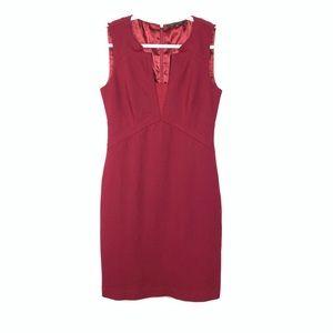 Elie Tahari   Cranberry Burgundy Bodycon Dress
